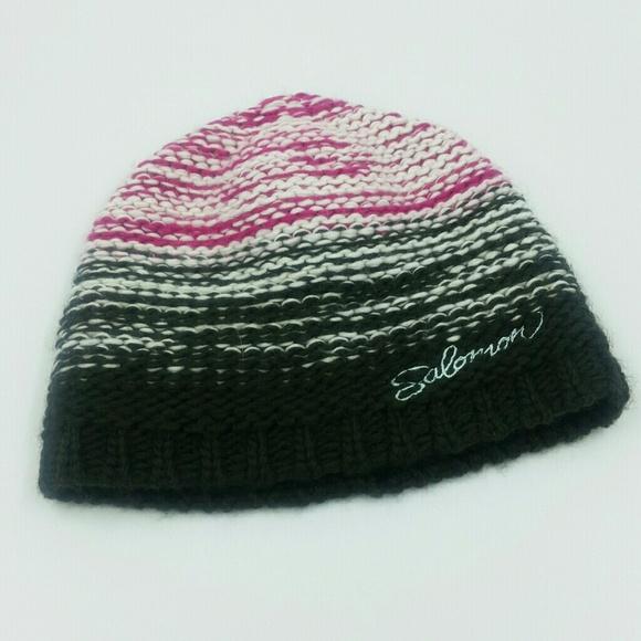 81b51f44 Salomon Accessories   L Knit Ski Beanie Hat Rainbow Colors D6   Poshmark